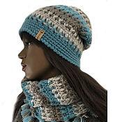 Аксессуары handmade. Livemaster - original item Knitted hat and snood