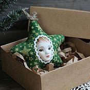 Подарки к праздникам ручной работы. Ярмарка Мастеров - ручная работа Звездочка новогодняя игрушка. Handmade.