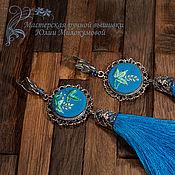 Украшения handmade. Livemaster - original item Embroidered tassel earrings Spring in Kyoto. Handmade.