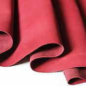 Материалы для творчества handmade. Livemaster - original item action!! crust. 1,3-1,5 mm. bordeaux. genuine leather. Handmade.
