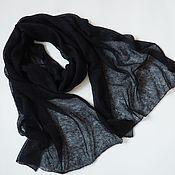 Аксессуары handmade. Livemaster - original item Stole black scarf knitted from kid mohair black scarf. Handmade.