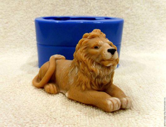 """Другие виды рукоделия ручной работы. Ярмарка Мастеров - ручная работа. Купить Силиконовая форма для мыла """"Лев"""". Handmade. Синий"""