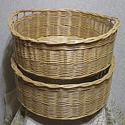 Для дома и интерьера handmade. Livemaster - original item Large round basket with handles. Handmade.