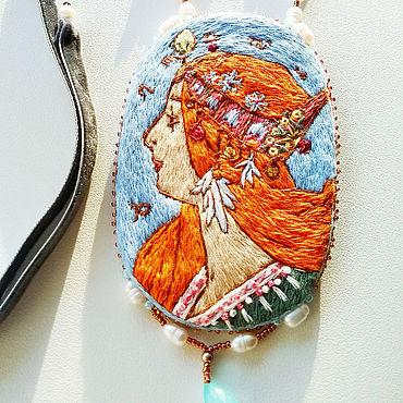 Decorations handmade. Livemaster - original item Zodiac pendant based on the lithography of Alphonse Mucha author`s work. Handmade.