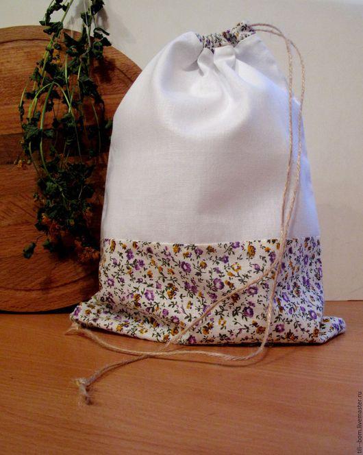 """Кухня ручной работы. Ярмарка Мастеров - ручная работа. Купить Хлопковый мешочек """"Прованс!"""". Handmade. Комбинированный, для мелочей, мешочек, фиолетовый"""