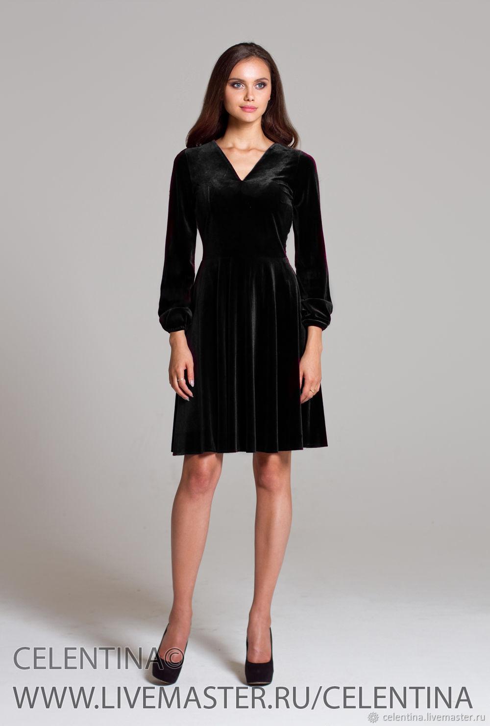 8515265042c Черное бархатное платье. Черное платье. платье вечернее – купить в ...