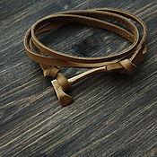 Украшения handmade. Livemaster - original item leather bracelet with axe from Minttiger. Handmade.