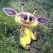 Куклы и игрушки ручной работы. Ярмарка Мастеров - ручная работа Жора маленький жирафик. Handmade.