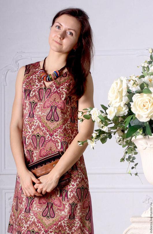 """Платья ручной работы. Ярмарка Мастеров - ручная работа. Купить Платье """"Пейсли"""". Handmade. Комбинированный, женская одежда"""