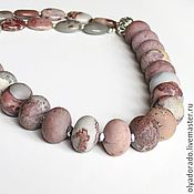 Украшения handmade. Livemaster - original item necklace of matte Madagascar Jasper. Handmade.