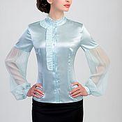 """Одежда ручной работы. Ярмарка Мастеров - ручная работа Блузка шелковая """"Воздушная нежность 3"""". Handmade."""