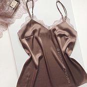Одежда ручной работы. Ярмарка Мастеров - ручная работа Шелковый топ в бельевом стиле. Handmade.
