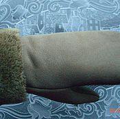 Аксессуары ручной работы. Ярмарка Мастеров - ручная работа варежки бежевые лазарные. Handmade.