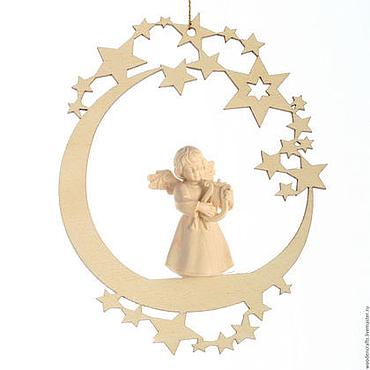 """Подарки к праздникам ручной работы. Ярмарка Мастеров - ручная работа Елочная игрушка """"Луна с ангелом"""". Handmade."""