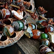 Украшения handmade. Livemaster - original item Chic large beads of large stones