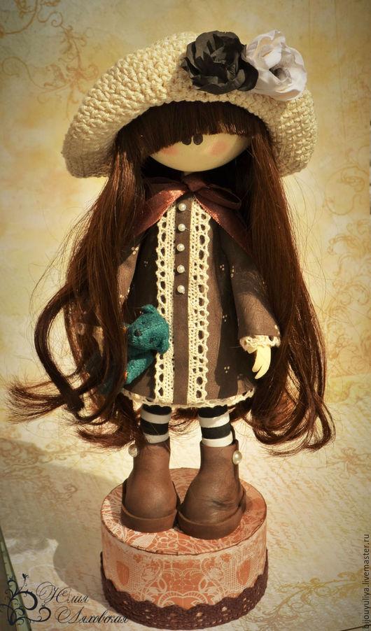 Коллекционные куклы ручной работы. Ярмарка Мастеров - ручная работа. Купить Интерьерная кукла из Фома. Handmade. Коричневый, фоамиран
