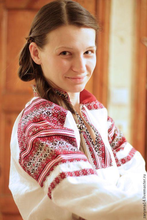 Этническая одежда ручной работы. Ярмарка Мастеров - ручная работа. Купить Рубаха со стойкой Алатыри. Handmade. Белый