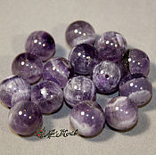 Материалы для творчества handmade. Livemaster - original item Amethyst beads 12mm (natural stone). Handmade.