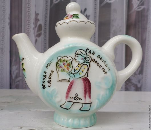 Винтажная посуда. Ярмарка Мастеров - ручная работа. Купить Заварочный чайник расписной.. Handmade. Черный, посуда, подарок на любой случай