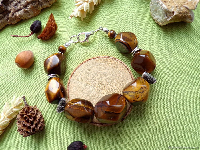Bracelet with a glandular tiger eye, Bead bracelet, Ekaterinburg,  Фото №1
