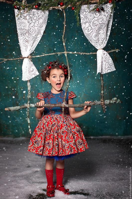Одежда для девочек, ручной работы. Ярмарка Мастеров - ручная работа. Купить Платье ЗИМНЯЯ ВИШНЯ. Handmade. Комбинированный, Платье нарядное