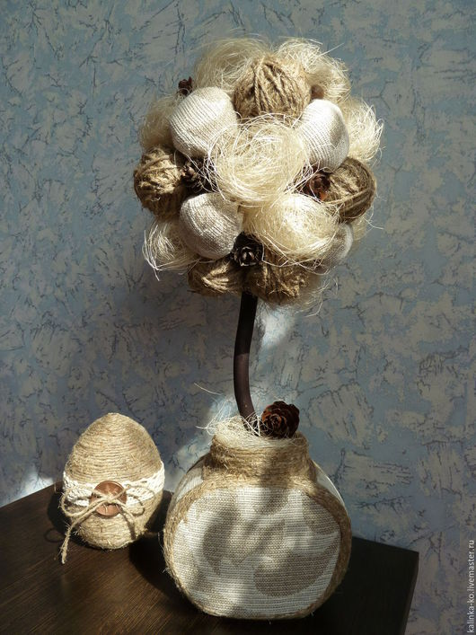 Топиарии ручной работы. Ярмарка Мастеров - ручная работа. Купить Топиарий - дерево счастья  в стиле РУСТИК подарок на любой случай. Handmade.