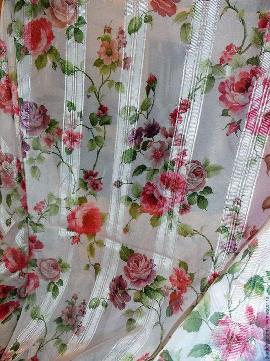 Текстиль, ковры ручной работы. Ярмарка Мастеров - ручная работа. Купить Вуаль для легких гардин в стиле шебби. Handmade. Белый
