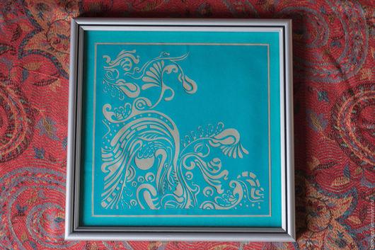 Абстракция ручной работы. Ярмарка Мастеров - ручная работа. Купить Волны. Handmade. Морская волна, картина, вырезание, вырезанная картина