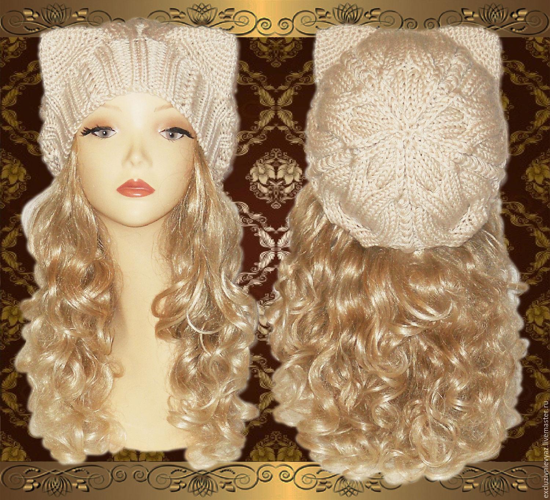 схема вязания шапки с ушками котов