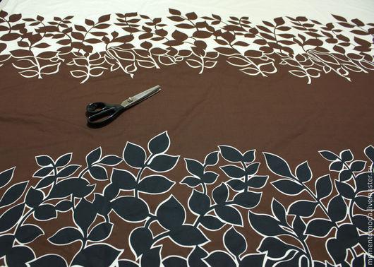 """Шитье ручной работы. Ярмарка Мастеров - ручная работа. Купить Поплин  купонный """"Листья"""". Handmade. Плательная ткань, итальянские ткани"""