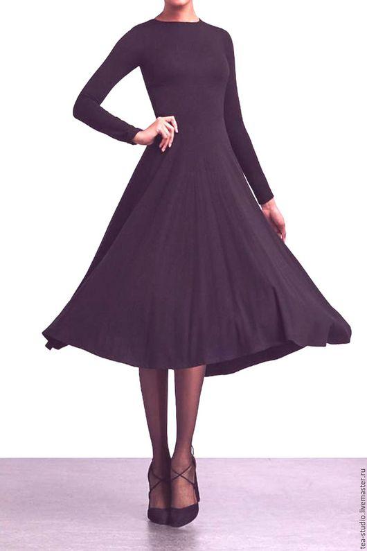 Платья ручной работы. Ярмарка Мастеров - ручная работа. Купить Платье   модель 71616. Handmade. Тёмно-фиолетовый, однотонный, платье