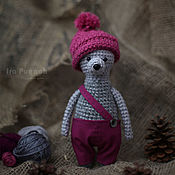 Stuffed Toys handmade. Livemaster - original item Knitted Bear in pants and hat. Handmade.