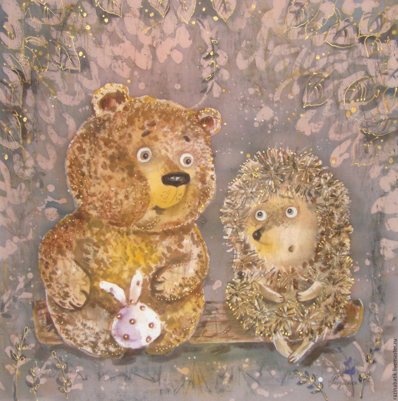содержанию открытка ежик с медвежонком культура имеет