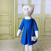 """Куклы и игрушки ручной работы. Ярмарка Мастеров - ручная работа Кошка """"Споря с небом, чья синей синева..."""". Handmade."""