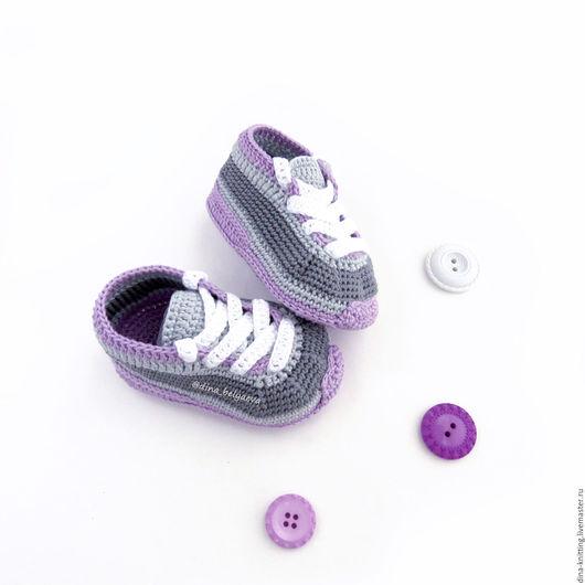вязаные пинетки, пинетки кроссовки, вязаные кроссовки, пинетки кеды, пинетки вязаные кеды для мальчика, пинетки кеды вязаные для девочки