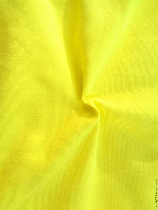 """Шитье ручной работы. Ярмарка Мастеров - ручная работа. Купить Кулирная гладь с лайкрой """"Лимонно-жёлтая"""". Handmade. Желтый"""