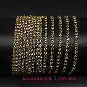 Материалы для творчества handmade. Livemaster - original item Rhinestone chain dense SS12 3 mm Champagne in Golden DACs 10 cm. Handmade.