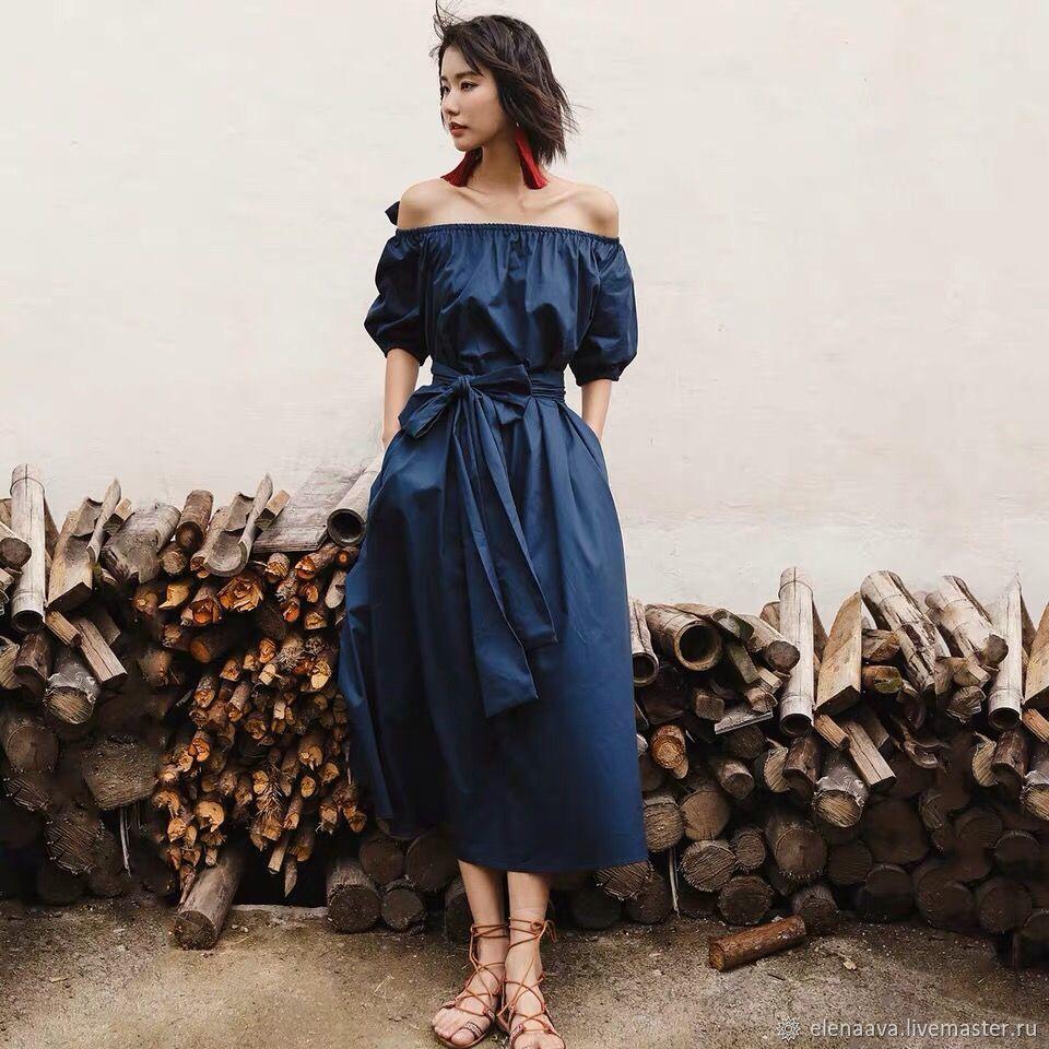 Синее винтажное платье, Платья, Москва, Фото №1