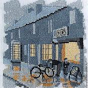 Картины и панно ручной работы. Ярмарка Мастеров - ручная работа Магазин велосипедов. Handmade.