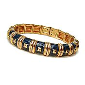 Винтаж ручной работы. Ярмарка Мастеров - ручная работа Joan Rivers синий браслет клампер. Handmade.