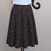 Одежда ручной работы. Ярмарка Мастеров - ручная работа Юбка в складку в мелкий цветочек. Handmade.