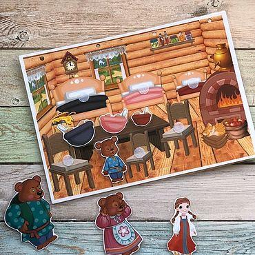 Куклы и игрушки ручной работы. Ярмарка Мастеров - ручная работа Три медведя на липучках. Handmade.