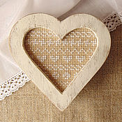Для дома и интерьера ручной работы. Ярмарка Мастеров - ручная работа Шкатулка-сердце с вышивкой - С любовью к Провансу вышитая шкатулка. Handmade.