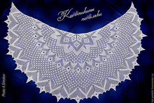 Шали, палантины ручной работы. Ярмарка Мастеров - ручная работа. Купить Вязаная ажурная свадебная шаль Белая невеста. Handmade.