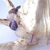 Материалы для творчества ручной работы. Ярмарка Мастеров - ручная работа флюорит бусины капли листик 14х18мм. Handmade.