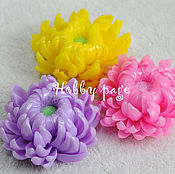 Материалы для творчества handmade. Livemaster - original item Silicone molds for soap Fantastic chrysanthemum. Handmade.