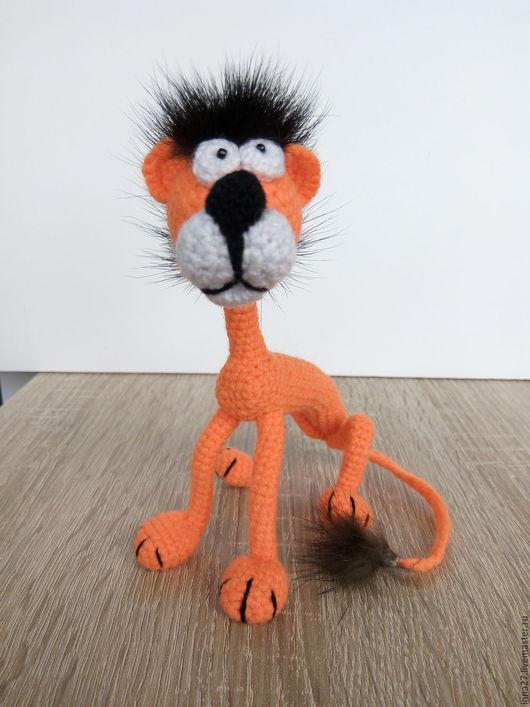 Игрушки животные, ручной работы. Ярмарка Мастеров - ручная работа. Купить Лев, царь зверей, знак зодиака. Handmade. Рыжий