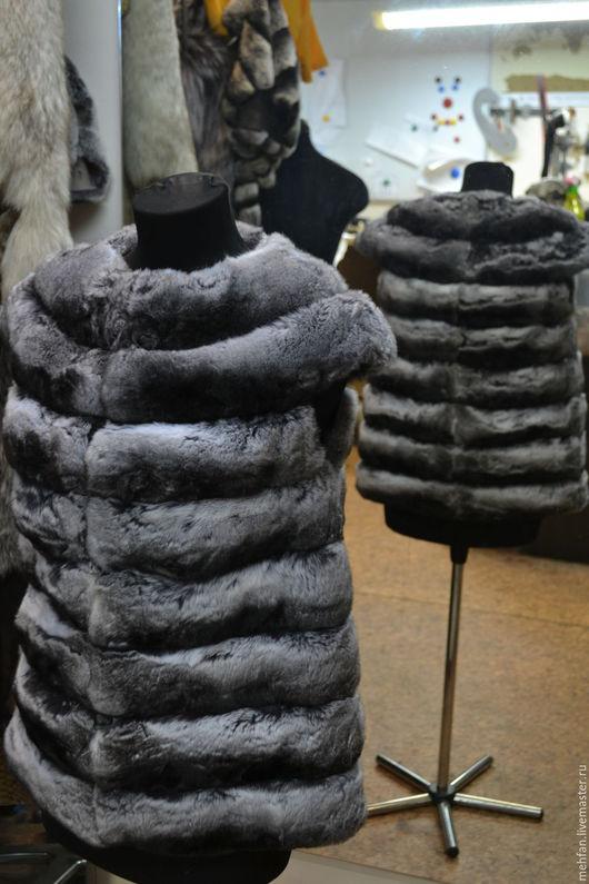 жилет из меха шиншиллы
