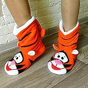 Обувь ручной работы handmade. Livemaster - original item Tiger`s Slippers. Handmade.