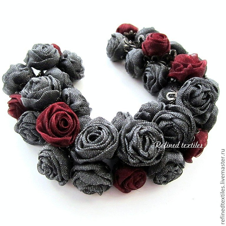 The ashes of passion. the bracelet with the colors of the fabrics. romantic style, Bead bracelet, Kabardinka,  Фото №1